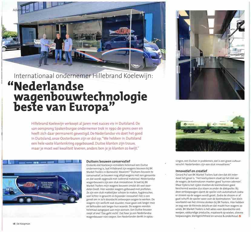 Nederlandse verkoopwagensbouwers hoog in de ranking in Europa!